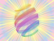 De kleurrijke achtergrond van het vakantiepaasei Stock Fotografie