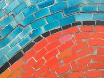 De kleurrijke achtergrond van keramische tegelpatronen Stock Afbeeldingen