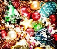 De kleurrijke achtergrond van Kerstmis Kerstmis en nieuwe jaardecoratie Royalty-vrije Stock Afbeelding