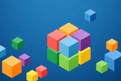 De kleurrijke achtergrond van kubusspelen Stock Foto's