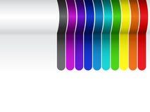 De kleurrijke Achtergrond van Lijnen op Wit Stock Fotografie