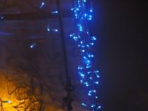 De kleurrijke achtergrond van Nieuwjaarslingers Royalty-vrije Stock Foto