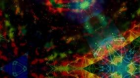 De kleurrijke achtergrond van de patroonlengte stock videobeelden