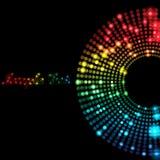 De kleurrijke Achtergrond van Punten Stock Afbeelding