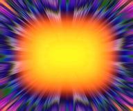 De kleurrijke achtergrond van de starburstexplosie Stock Foto