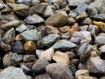 De kleurrijke achtergrond van de steentextuur Stock Foto's