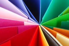 De kleurrijke Achtergrond van de Textuur van het Document Royalty-vrije Stock Foto