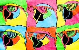 De kleurrijke Achtergrond van Vogels stock illustratie