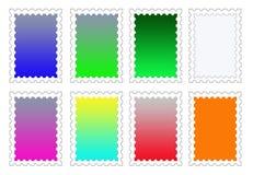 De kleurrijke Achtergronden van de Zegel Geplaatst PNG Royalty-vrije Stock Foto