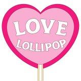 De kleurrijke affiche van de liefdelolly Stock Fotografie