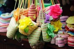 De kleurrijke Ambachten van het Stro in de Straat van Jinli van chengdu Royalty-vrije Stock Foto's