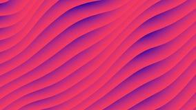 De kleurrijke animatie van de golfgradiënt De toekomstige geometrische achtergrond van de patronenmotie het 3d teruggeven royalty-vrije illustratie