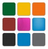De kleurrijke app achtergrond van pictogrammalplaatjes royalty-vrije illustratie