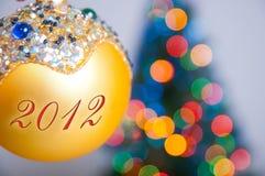 De kleurrijke bal van Kerstmis Royalty-vrije Stock Afbeelding