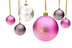 De kleurrijke ballen van de Kerstmissnuisterij vector illustratie