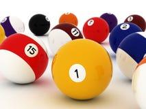 De kleurrijke Ballen van de Pool Royalty-vrije Stock Foto's