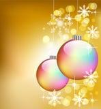 De kleurrijke ballen van Kerstmis vector illustratie