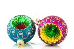 De kleurrijke ballen van Kerstmis Stock Fotografie