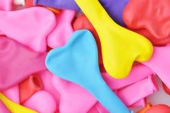 De kleurrijke Ballons van de Vorm van het Hart. Royalty-vrije Stock Afbeelding