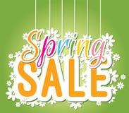 De kleurrijke banner van de de lenteverkoop Royalty-vrije Stock Afbeeldingen