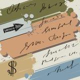 De kleurrijke banner van de inktplons Stock Foto