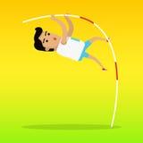 De Kleurrijke Banner van de zomerspelen Polsstokspringensport vector illustratie