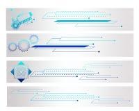 De kleurrijke Banner van Technologie van de Vorm Royalty-vrije Stock Foto