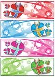 De kleurrijke banners van het Giftweb Stock Foto's