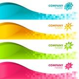 De kleurrijke Banners van het Pixel Royalty-vrije Stock Foto's
