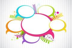 De kleurrijke Bel van het Praatje Vector Illustratie