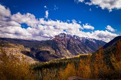 De Kleurrijke Bergen van Colorado in de Herfst royalty-vrije stock fotografie