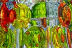 De kleurrijke Bezinningen van het Glas Stock Fotografie