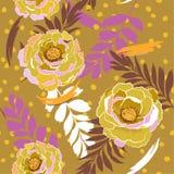 De kleurrijke bloeiende Wilde bloemen van het pastelkleur naadloze patroon in velen stock illustratie