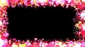 De kleurrijke bloemblaadjes vallen De achtergrond van de Bloem van de lente Lijnanimatie Vrij glanzende bloemblaadjes van bloesem royalty-vrije illustratie