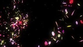 De kleurrijke bloemblaadjes vallen De achtergrond van de Bloem van de lente Vrij glanzende bloemblaadjes van bloesems royalty-vrije illustratie
