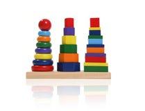 De kleurrijke Blokken van het Stuk speelgoed Royalty-vrije Stock Foto's