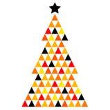 De kleurrijke Boom van het Kerstmismozaïek Royalty-vrije Stock Afbeeldingen