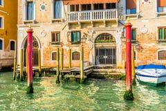 De kleurrijke Boot Venetië Italië van Grand Canal Polen Royalty-vrije Stock Foto