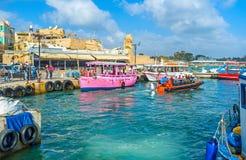 De kleurrijke boten Stock Fotografie