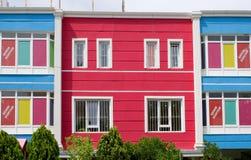 De kleurrijke bouw Royalty-vrije Stock Afbeeldingen