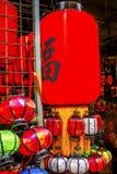 De kleurrijke Chinese Document Vlooienmarkt Peking China van Lantaarnspanjuan Stock Afbeeldingen