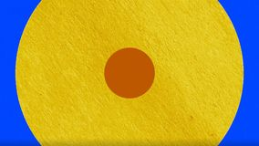 De kleurrijke Cirkelovergang De kleurrijke animatie die van de motiegrafiek dynamicacirkels kenmerken stock fotografie