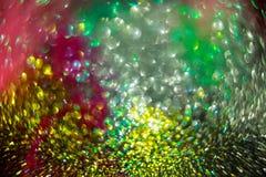 De kleurrijke cirkels van lichte abstracte stijl als achtergrond defocused abstracte textuur Stock Afbeelding