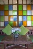 De kleurrijke decoratie van bloemenpotten Royalty-vrije Stock Foto