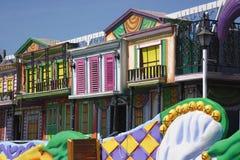 De kleurrijke Details van de Vlotter van Mardi Gras royalty-vrije stock foto's