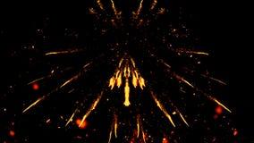De kleurrijke die deeltjes voeren stofpuin uit op blackCarnaval vuurwerkdeeltjes wordt geïsoleerd op geïsoleerde zwarte achtergro stock fotografie