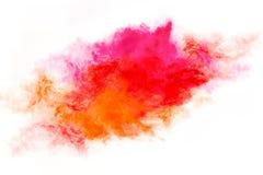 De kleurrijke die Explosie van het Stofdeeltje op Wit wordt geïsoleerd Royalty-vrije Stock Foto