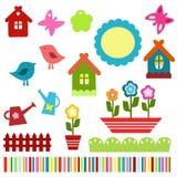 De kleurrijke elementen van het kindplakboek Stock Fotografie
