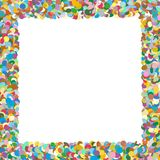De Kleurrijke en Squarish Gevormde Vectorillustratie van de confettiengrens - stock illustratie