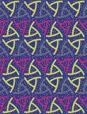De kleurrijke feestelijke tegel van het confettien geweven naadloze patroon met geometrische symmetrie en stippen vector illustratie